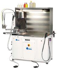 Отделочное и финишное оборудование для прачечных и химчисток, ПЯТНОВЫВОДНЫЕ СТОЛЫ - Model ECOCAB